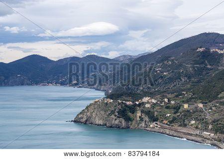 Corniglia View From The Mountain