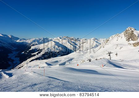 ski slope in the tyrolean alps