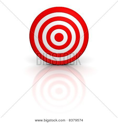 Red target with reflection