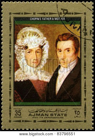 Frederic Chopin's Parents Used Postage Stamp