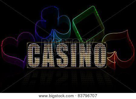 Casino Illustration On The Black