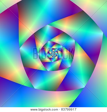 Spiral In Blue And Purple