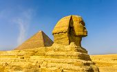pic of the great pyramids  - The Great Sphinx and the Great Pyramid of Giza - JPG