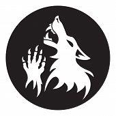 picture of werewolf  - Vector werewolf stencil - JPG