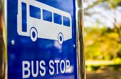 image of traffic sign  - Bus stop sign - JPG