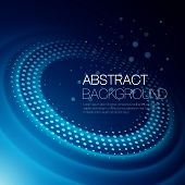 foto of orbital  - Vector abstract color background with glowing space orbit - JPG