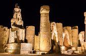 foto of ramses  - Figure of Ramses II in Luxor Temple  - JPG