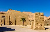 stock photo of ramses  - View of the mortuary Temple of Ramses III near Luxor in Egypt - JPG
