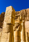 picture of hatshepsut  - Ancient sculptures in the Mortuary temple of Hatshepsut  - JPG