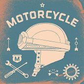 Постер, плакат: Vintage race motorcycle for printing