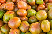 pic of stall  - Full frame of fresh tomatoes on market stall - JPG