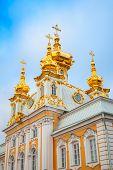 stock photo of fragmentation  - Church of Saints Peter and Paul in Peterhof St - JPG