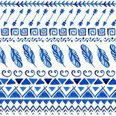 foto of aztec  - Watercolor ethnic seamless pattern - JPG