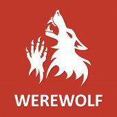 stock photo of werewolf  - Vector werewolf stencil - JPG