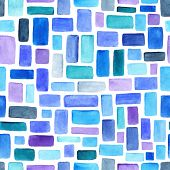 stock photo of pattern  - Watercolor seamless pattern - JPG