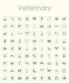 stock photo of veterinary  - It is a set of veterinary simple icons - JPG