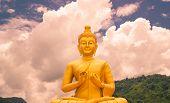 image of buddha  - Buddha at Buddha Memorial park Nakorn nayok Thailand - JPG