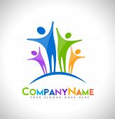 stock photo of logo  - People Logo Design - JPG