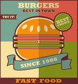 picture of hamburger  - Fast food menu - JPG
