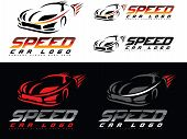 image of speeding car  - Speed Car Design - JPG