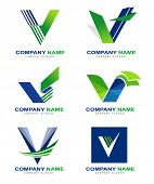 image of logo  - Letter V Logo Design Set - JPG