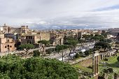 image of emanuele  - Panorama view of Rome from rooftop of Victor Emanuele II Monument - JPG