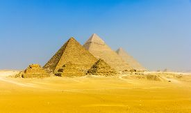 image of plateau  - View of pyramids from the Giza Plateau - JPG