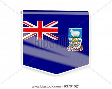 Flag Label Of Falkland Islands