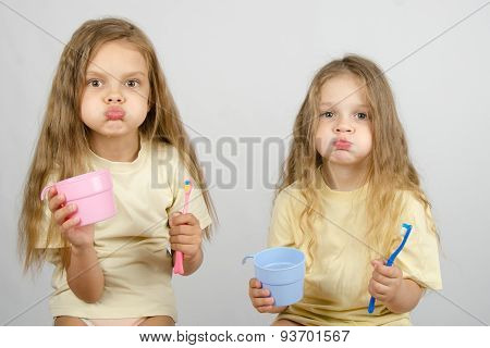 Two Sisters Rinse Your Mouth Brush Your Teeth