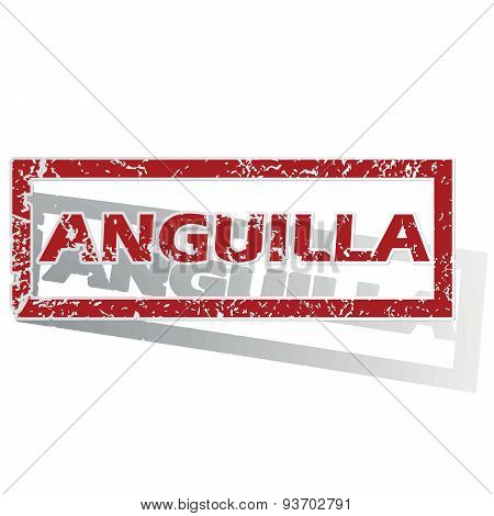 Anguilla outlined stamp