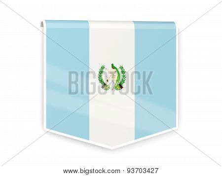 Flag Label Of Guatemala