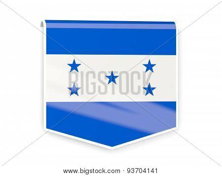 Flag Label Of Honduras