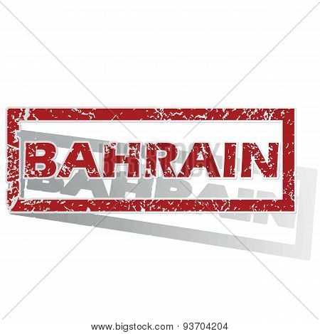Bahrain outlined stamp