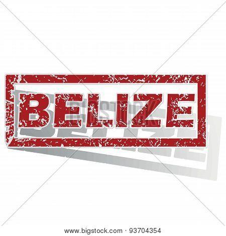 Belize outlined stamp
