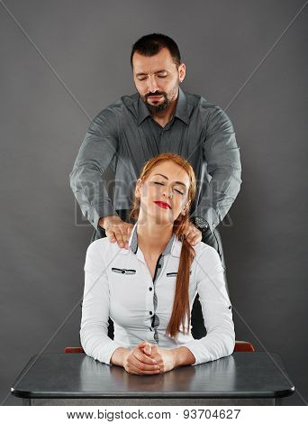 Massaging The Lady Boss