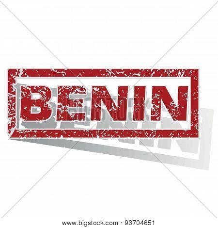 Benin outlined stamp