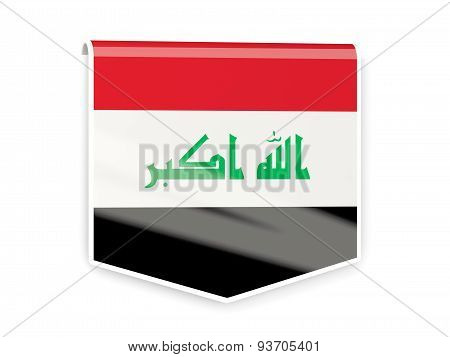 Flag Label Of Iraq