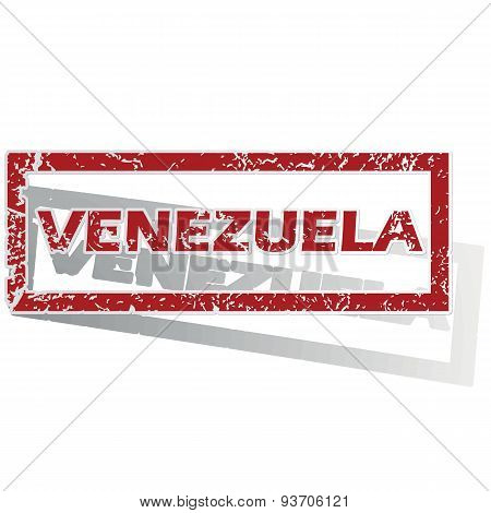 Venezuela outlined stamp