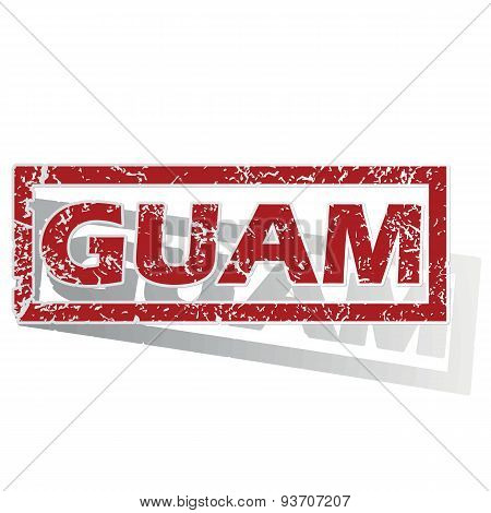 Guam outlined stamp