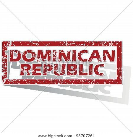 Dominican Republic outlined stamp