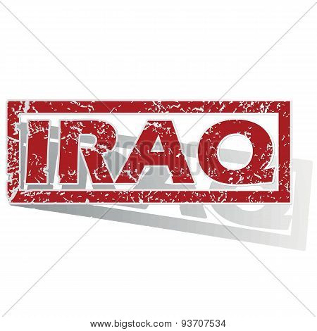 Iraq outlined stamp