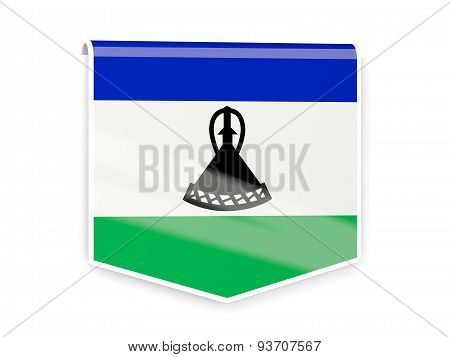Flag Label Of Lesotho