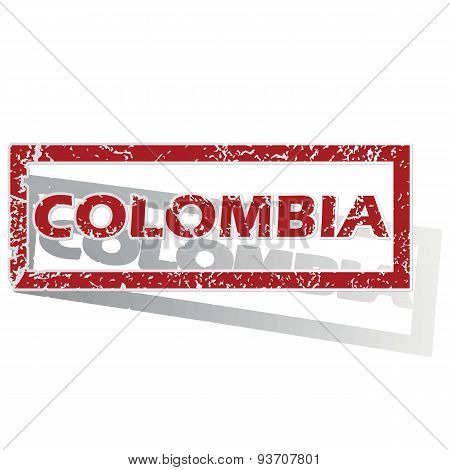 Colombia outlined stamp