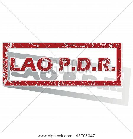Lao PDR outlined stamp