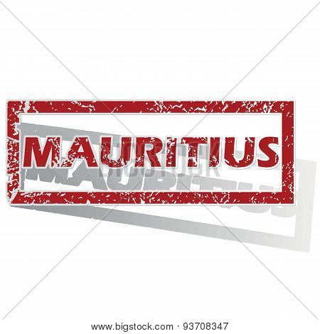 Mauritius outlined stamp