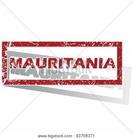 Mauritania outlined stamp
