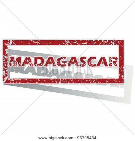 Madagascar outlined stamp