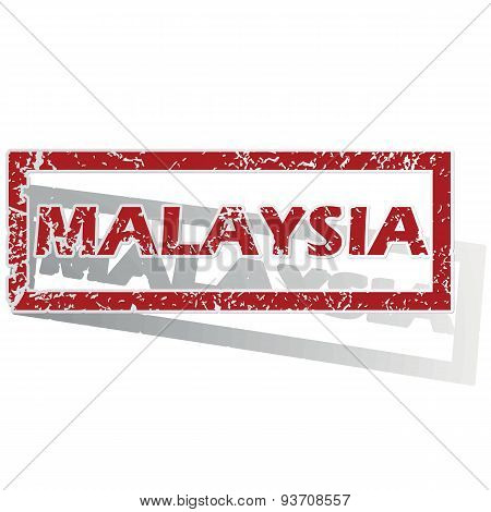 Malaysia outlined stamp