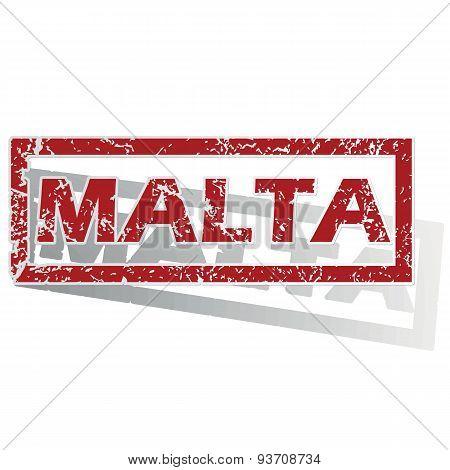 Malta outlined stamp