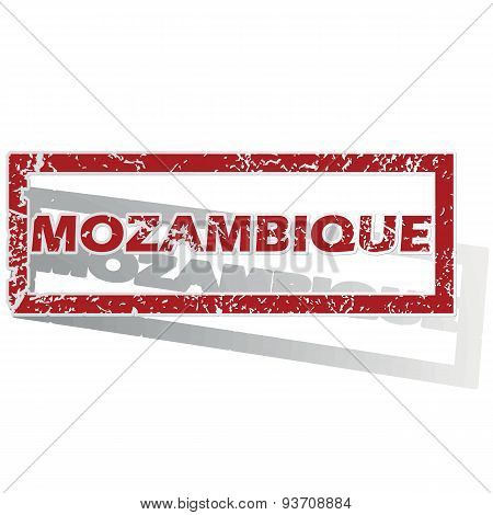Mozambique outlined stamp